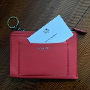 Leather Coach Card Holder